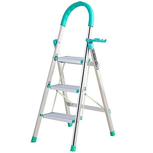 JXHOME Paso Escalera Plegable con los apoyabrazos de Goma ensanchando el Pedal del hogar o fácil Almacenamiento 150 kg La Carga de Peso