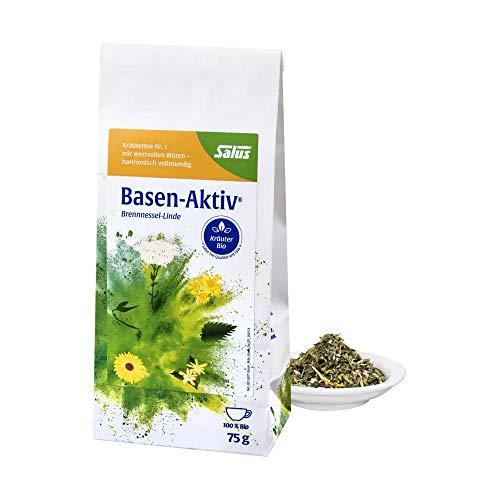Salus Basen-Aktiv Kräutertee Nr. 1 – Loser Tee mit Brennnessel Linde – Hochwertige Bio Qualität – 1 x 75 g