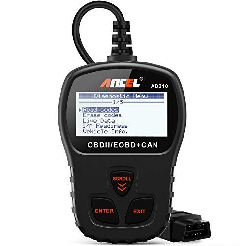 ANCEL AD210 OBD II Lettore di Codice per Auto Strumento di Scansione Diagnostica per Scanner OBD2 per Veicoli Diesel e Benzina con il Manuale in italiano