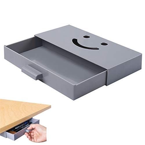 デスク下 収納ボックス 引き出し式 隠し 卓下式 スライド 収納ケース グレー