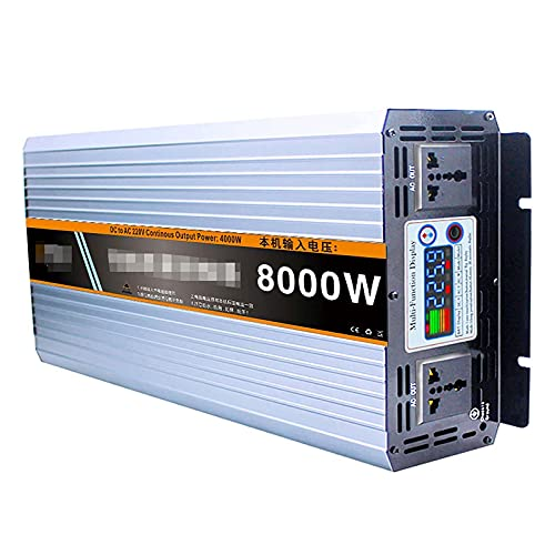 Nuevo inversor de Corriente de Onda sinusoidal Pura 8000W DC 12V-72V a AC 220V Convertidor con Pantalla LED