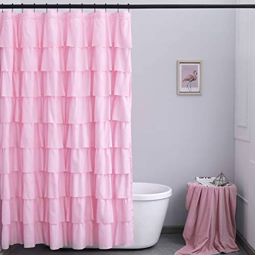 """Ameritex Ruffle Shower Curtain Home Decor 