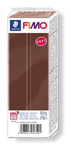 Staedtler FIMO soft ofenhärtende Modelliermasse, Großblock 454g (1 lb), schokolade
