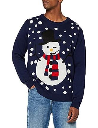 NIZZIN Unisexo Maples, suéter Hombre, Azul (Blue), Medium