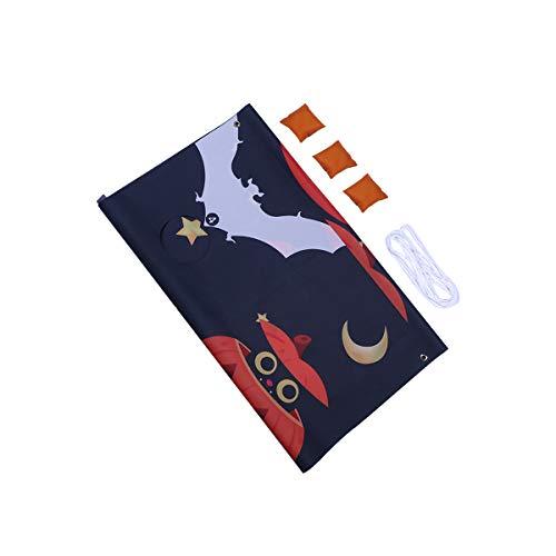 Abaodam 1 Set of Pumpkin Pattern Sandbags Throwing Banners Hanging Pendant Halloween Children' Outdoor Games for Kids Garden