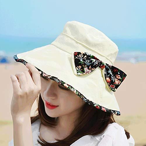 YWSZJ Sombrero de protección Solar for Mujer Sombrero de Viaje de Verano Gorra de Playa ala Ancha (Color : E)