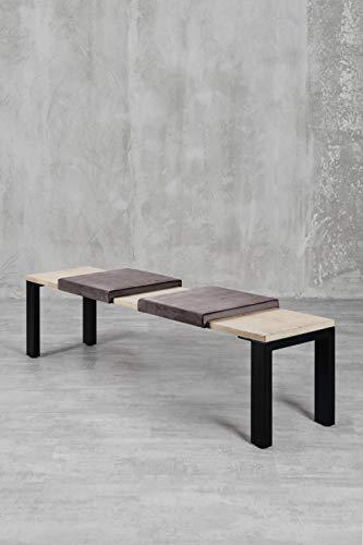 carla&marge Klemm-Kissen Sense - 2er Set - 44x6x44 cm - weiches Sitz-Kissen, Samtkissen für Sitzbanktiefe 40 cm - Farbe: Taupe