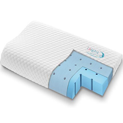 inight Contour Memory Foam Pillow, Cervical Support Medium Firm Pillow,...