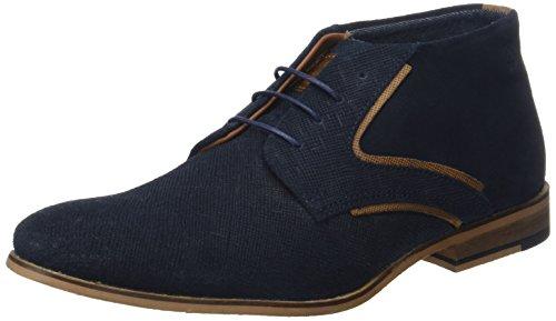 Redskins NADEOL, Zapatos de Cordones Derby Hombre, Azul Marino Cognac, 45 EU