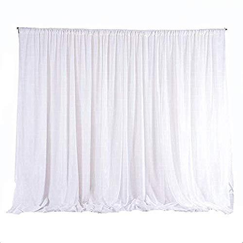 uyoyous Vorhang Hochzeit Hintergrund 3m x 3m Ice Seide Vorhänge Party Dekoration Hintergründe für Hochzeit Geburtstag Baby Shower Weihnachten Event Feier - Weiß