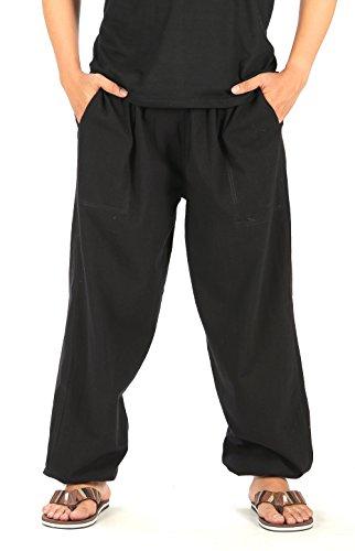 CandyHusky Men Casual Lounge Jogging Workout Yoga Pants Elastic Waist Drawstring (3XL/4XL, Black)