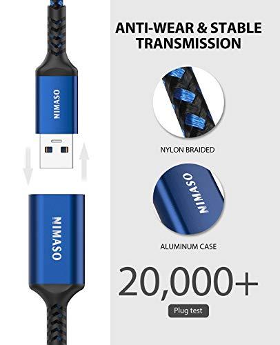 NIMASO Cable Alargador USB 3.0 [1M+2M] Cable USB 3.0 Macho A Hembra Super Rápida 5 Gbps para Mouse,Teclado,Pendrive… 4