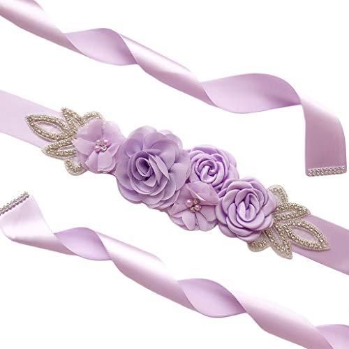 ERUYN 270x4cm Vestido de Novia de Novia para Mujer Cintura Faja Cinturón...
