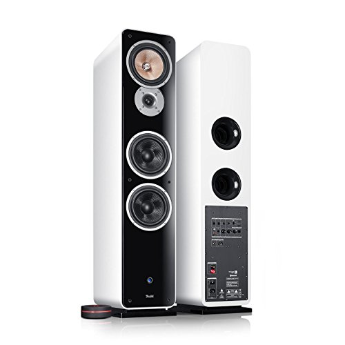 Teufel Ultima 40 Aktiv (2017) Weiß Stand-Lautsprecher Sound bassreflex 3-Wege flac HiFi Hochtöner Lautsprecher high end HiFi Speaker high end Lautsprecher
