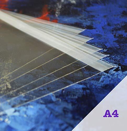 Bolsas de celofán A4 de Acryls, Paquete de 100 Unidades, Transparentes y de Buen Grosor,...