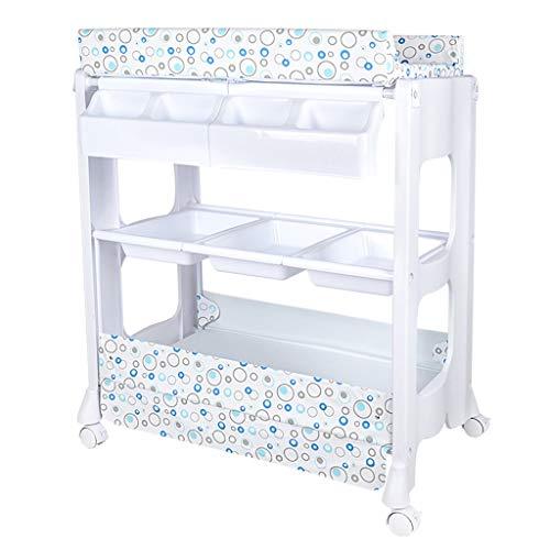 HZY-Windeltisch Baby Care Station Ersatz Schminktisch 2 In 1 Badewanne Mit Roller Ersatztisch Und Badezimmer Baby Aufbewahrung