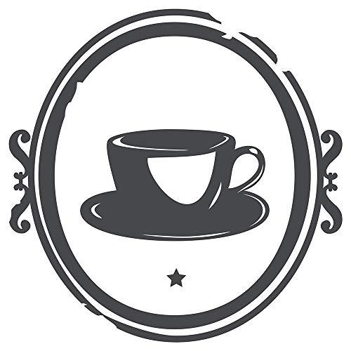 dekodino Wandtattoo Küche Kaffeetasse Cafe Kaffee Coffee Esszimmer Kaffeepause Tasse