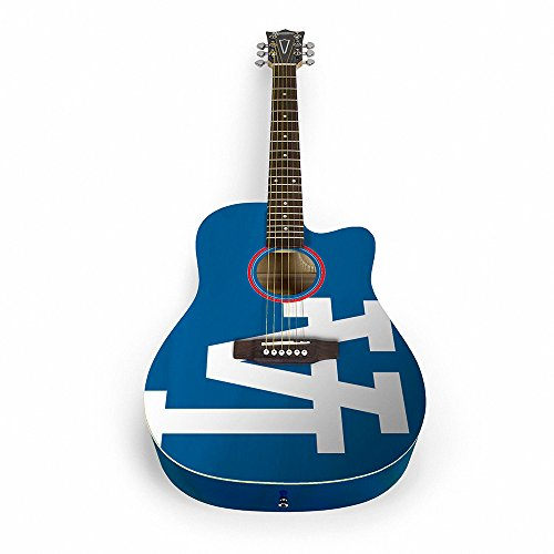 The Sports Vault MLB Los Angeles Dodgers ACMLB14Acoustic Guitar, Multi, One Size
