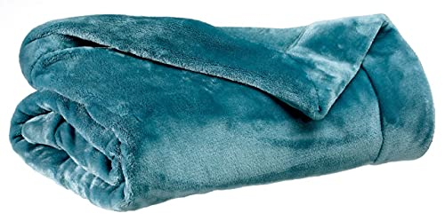 Vivaraise – Manta tender – 150 x 200 cm – Manta auxiliar cálida y suave – microfibra suave – Tacto terciopelo – Colcha Cocooning