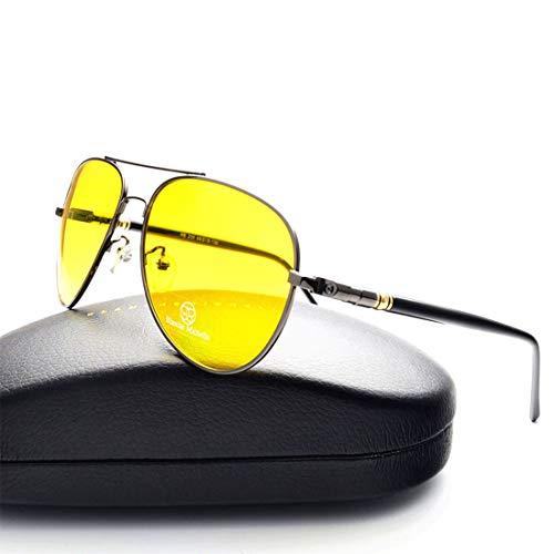 BLANCHE MICHELLE Sonnenbrille Pilot polarisiert Damen Herren Unisex BM209 grau/gelb