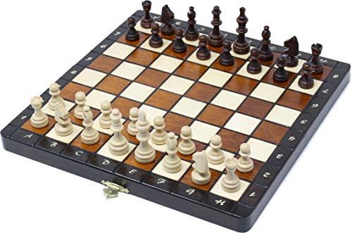 チェスジャパン 木製チェスセット プレミアム・マグネティック 27cm 磁石式