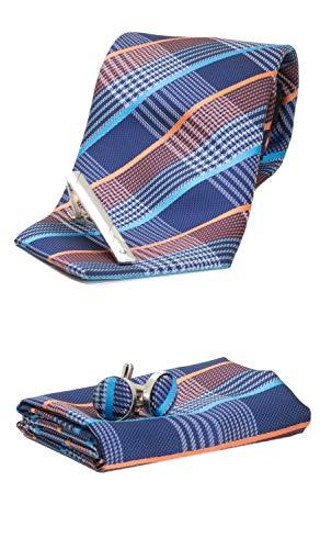Juego de corbatas SliCrown que incluye Gemelos de corbata, lazo y aguja de corbata, caja de regalo
