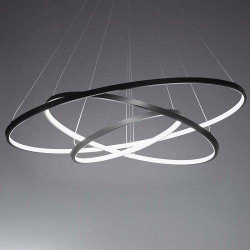 LightInTheBox 90W Pendant Light Modern Design LED Three Rings Chandeliers Black Color