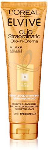 L'Oréal Paris Elvive Aceite Extraordinario Crema Ligera Nutritiva para todos los tipos de cabello, 150 ml