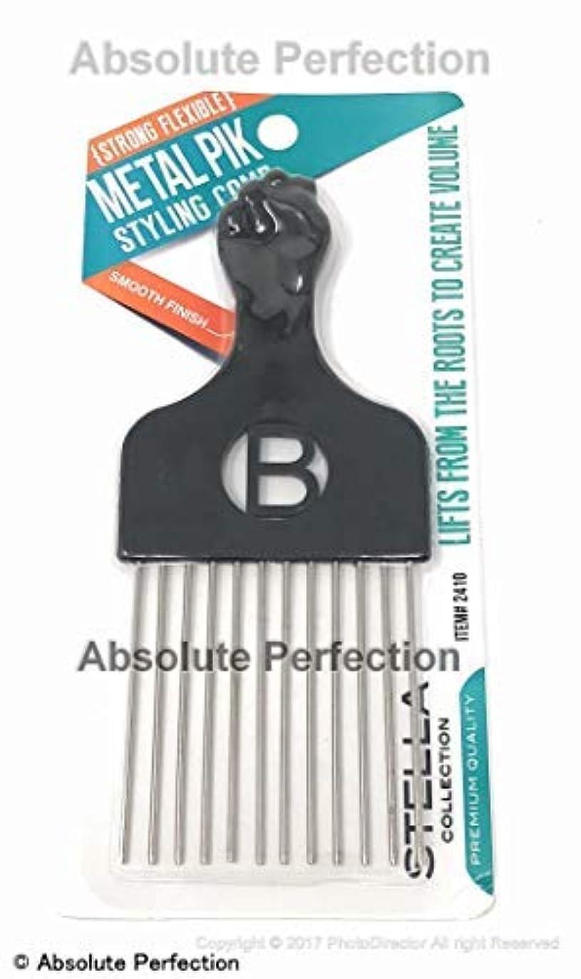 後方に野生敬Pro Grade Magic High Quality Hair Pick Afro Pick Styling Pik Metal Pik (Pack of 1) 6.65 Inch [並行輸入品]