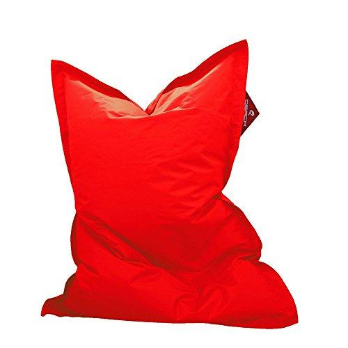 QSack Kindersitzsack Outdoorer, mit Innensack und Deutscher Qualitätsfüllung, 100 x140 cm (rot)