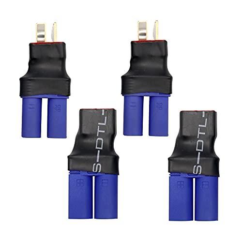 RUIZHI 4 Uds Deans T EC3 Enchufe Macho Hembra Adaptador de Conector de Batería Adaptador ESC Cargador para RC LiPo Batería FPV DIY Modelos