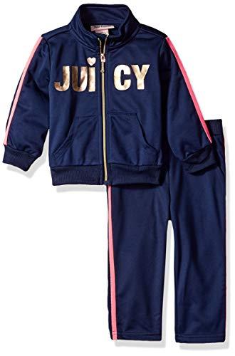 Juicy Couture - Pantalones de chándal para bebé (2 Piezas), Marino, 24 Meses