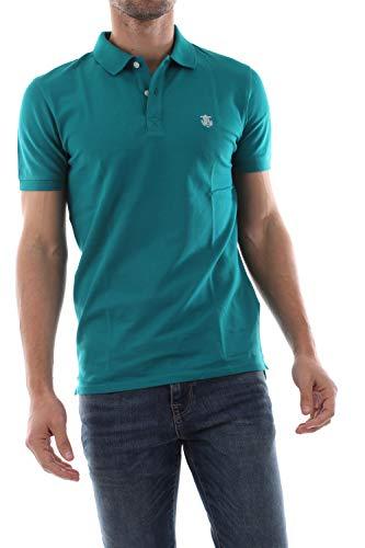 SELECTED HOMME Herren Shdaro Ss Embroidery Polo Noos T-Shirt , Grün (Quetzal Green) , X-Large
