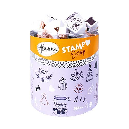 Aladine–03702–Stempel zu drucken–Stampo Scrap–Hochzeit