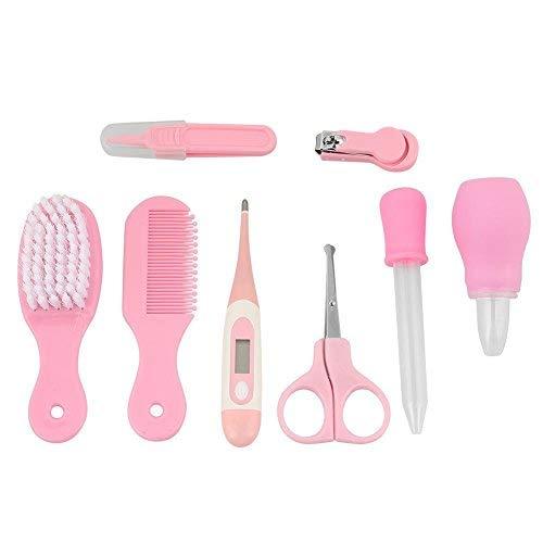 conveniente y seguro para reci/én nacidos 8 piezas Kit de cuidado para beb/és de pl/ástico no t/óxico Kit para el cuidado del beb/é Pink
