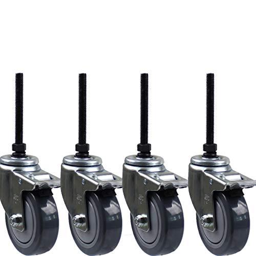 Roulettes 3 Pouces 4 Pouces 5 Pouces 104mm * 75mm + Charge 30 kg Moyenne vis Longue polyuréthane Frein à Double Sens muet personnalisé Roue en Rotatio