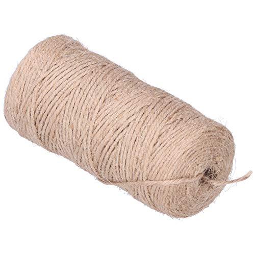 Kadimendium Cuerda de cáñamo para Manualidades, Cuerda Trenzada de Bricolaje Cuerda de Hilo Suave y Fuerte Cuerda de Color Caqui para entusiastas de la artesanía