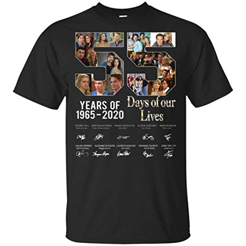 55 Years Days of Our Lives T-Shirts, Black, 2XL