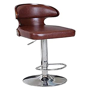 Dpliu Sgabelli da Bar Set di 2/3/4 Altezza contatore con sedie a Barre Regolabili girevoli per Cucina Sedia da Pranzo PU. Sgabello Rotante in Pelle 4 Colori, 60-80 cm