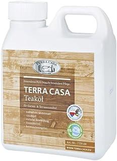 Terra Casa Teaköl 1 Liter Pflege-Öl Teakholz teakfarben seidenmatt Teak-Oel 1000 ml