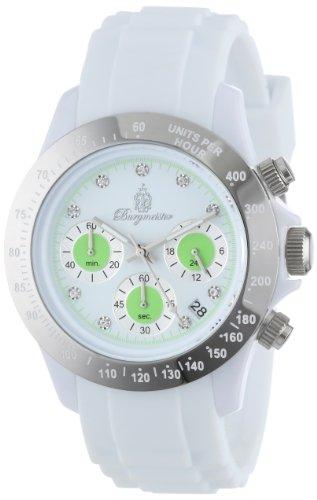 Burgmeister Armbanduhr für Damen mit Analog Anzeige, Chronograph und Silikonarmband - Wasserdichte Damenuhr mit zeitlosem, schickem Design - klassische, elegante Uhr für Frauen - BM514-586A Florida