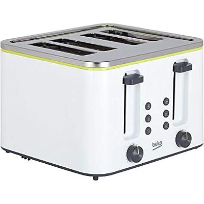 Beko White 4 Slot Toaster TAM4341