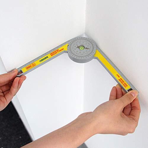 lynn Goniómetro de 360 grados, herramienta de medición de alta precisión para herramientas de carpintero de medición interior y exterior