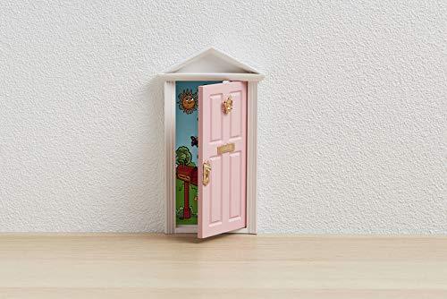 🐭 Ratoncito Pérez : Puerta Mágica Rosa + Escalera + Plato + QUESO + Felpudo + Llave + Dibujo Fondo de Puerta + Postal de Felicitación+ dibujo para anotar y pintar las