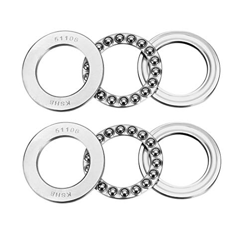 uxcell 51106 Single Direction Thrust Ball Bearings 30mm x 47mm x 11mm Chrome Steel Pack of 2