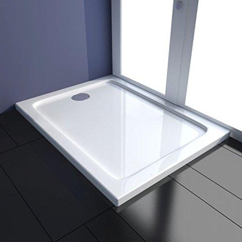 WEILANDEAL rechthoekige ABS-douchebak 80 x 100 cm douchebak bodem met materiaal: robuuste ABS-constructie met glasvezelsterkte douchebak