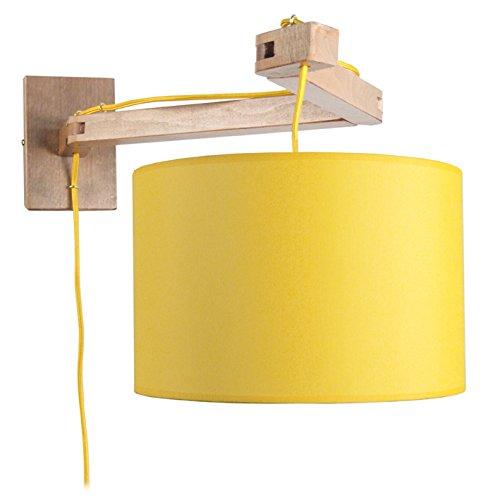 Tosel 31431 Smith beukenhout, katoen, stof, wandlamp 550 x 370 x 250 mm