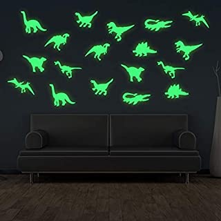 Black Friday Deal 3D Glow in The Dark Dinosaurs Wall Stickers 2 Pack 18pcs Dinosaurs Luminous Wall Decorative for Babay Ch...