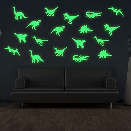 45 pcs Dinosaurs Luminous Wall Stickers,3D Glow in Dark Dinosaurs Wall Decorative for Baby Children...