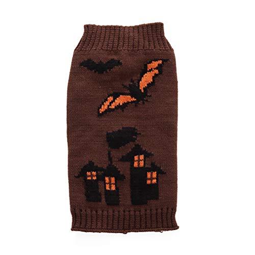 Amosfun Hond Kleding Halloween vleermuizen afdrukken Truien Outfit huisdier kostuums voor kleine huisdier grootte